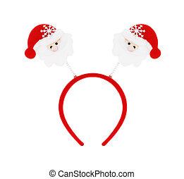 Santa headband isolated on white background.