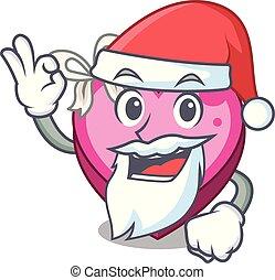 Santa heart box in the cartoon sleep