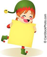 Santa Helper Girl Banner