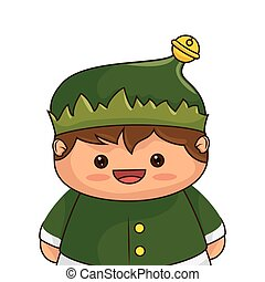 santa helper smiling cartoon