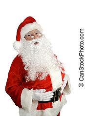 """Santa Ho Ho Ho - Traditional Santa Claus giving a big """"ho ho..."""