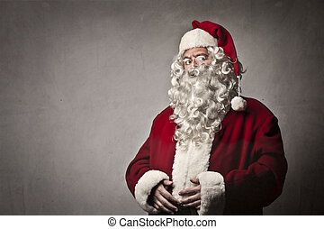 Santa holding his tummy