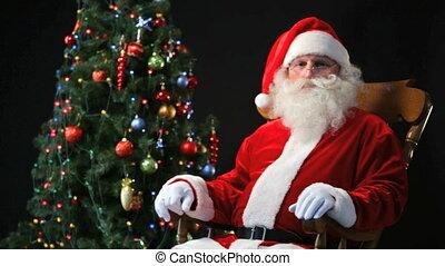Santa in a rocking-chair