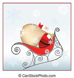 santa in Christmas nigth