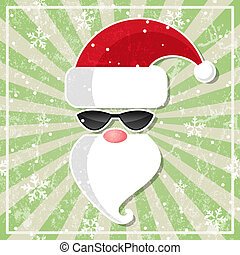 Santa in glasses with dark lenses