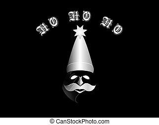 santa in phantom mask and hat