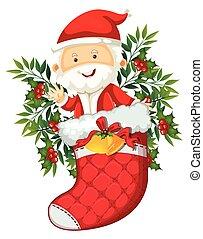 Santa in red sock