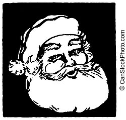 santa, inspiriert, weihnachten, abbildung