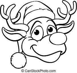 santa kalap, karácsony, rénszarvas