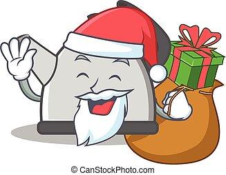 Santa kettle character cartoon style