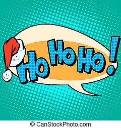 santa, lachen, text, komiker, claus, hohoho, blase, guten