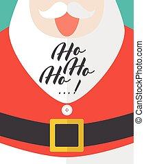 Santa laughing with Ho-Ho-Ho text
