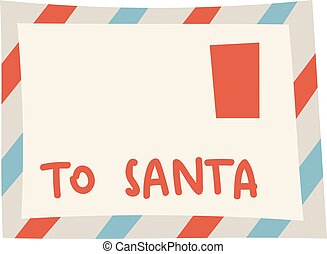 Blank christmas scroll santa postcard greeting gift mail isolated on white background. Vector paper claus greeting gift santa letter. Santa letter stamp celebration decoration message card.
