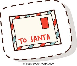 Santa letter vector illustration.