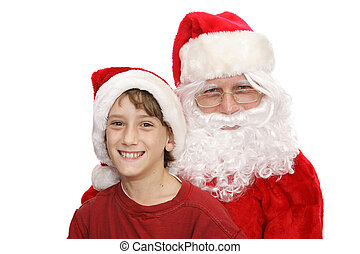Santa & Little Boy