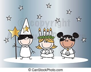 santa, lucia, tradición navidad