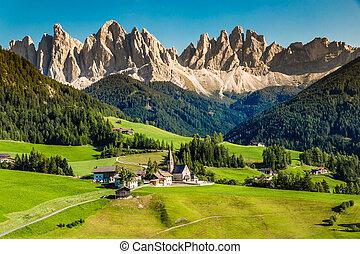 Santa Maddalena And Dolomites Mountain - Val Di Funes, Italy