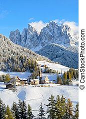 Santa Maddalena in winter