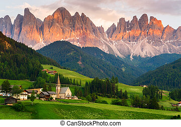 Santa Maddalena village, Italy - Santa Maddalena village in ...