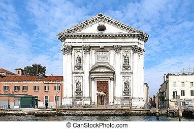 Santa Maria del Rosario entrance of an 18th century ...