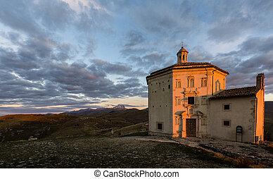 Santa Maria della Pietà (Church of Calascio in the Province of L'Aquila in Abruzzo, Italy)