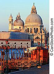 Santa Maria Della Salute, Church of Health, Grand canel Venice Italy in the morning, Vertical