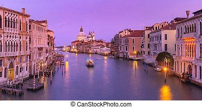 Santa Maria della Salute, Venice - Panorama of Grand canal ...
