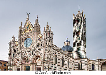 Santa Maria della Scala church located in Siena, Tuscany, Italy.