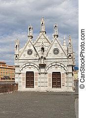 Santa Maria della Spina church in Pisa, Italy.