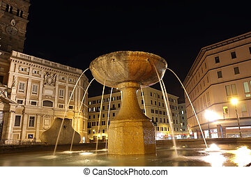 Santa Maria Maggiore Fountain in Rome