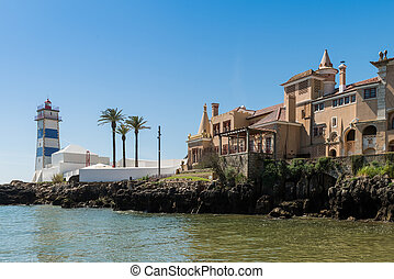 Santa Marta lighthouse and Municipal museum of Cascais, in...