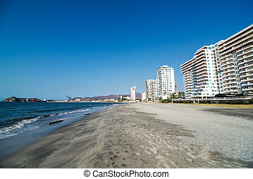 Santa Marta Waterfront - View of beaches on the waterfront...