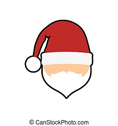 santa merry christmas icon, vector illustration