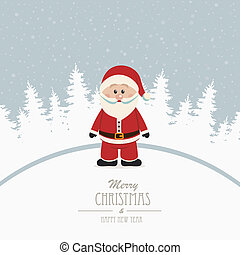 santa merry christmas winter