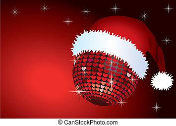 Santa Mirror Ball