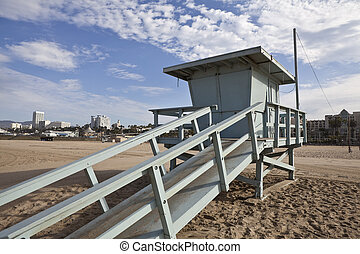 Santa Monica Beach Life Guard Tower