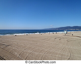 Santa Monica Beach Los Angeles California.