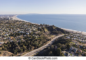 Santa Monica Pacific Coast Aerial