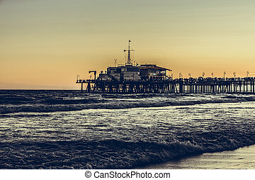 Santa Monica Pier in Los Angeles, California, USA