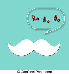 Santa Moustache - Snow white mustache of the big guy in red,...