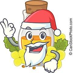 Santa mustard oil in the cartoon shape