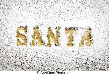 Santa name in the snow