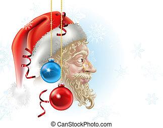 santa, natal, ilustração