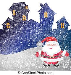 Santa of frame on christmasday