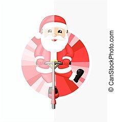 Santa on Bounce Rod
