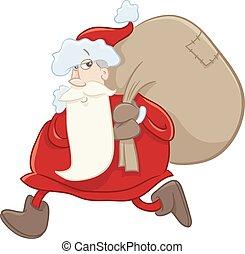 santa on christmas cartoon