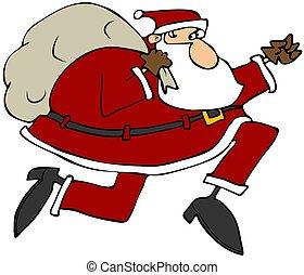 Santa on the run