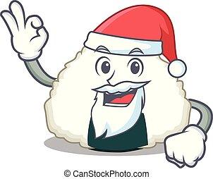 Santa Onigiri mascot cartoon style