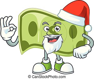 Santa paper money dollar for price profit.
