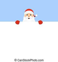Santa peeping from behind